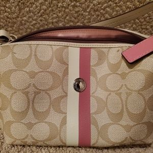 Coach purse pink and white